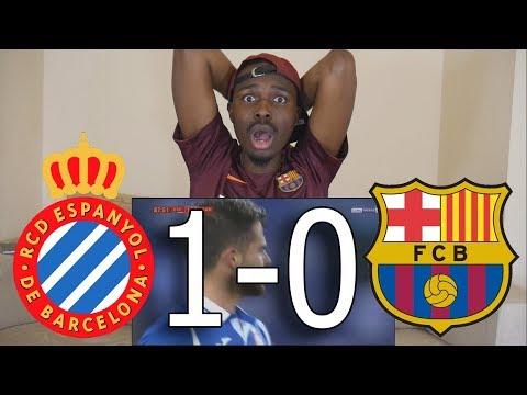 Bacelona Fan React To ● Espanyol vs Barcelona 1-0 All Goals ● Live Reaction