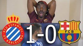 Bacelona Fan React To  Espanyol vs Barcelona 1-0 All Goals  Live Reaction