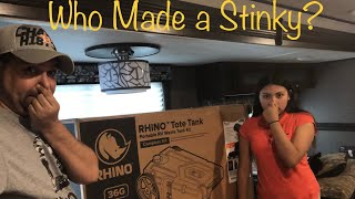 Unboxing Camco 36gal Tote Tank