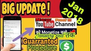 youtube monetization 2018 | Big Update Fix YouTube monetization 2018