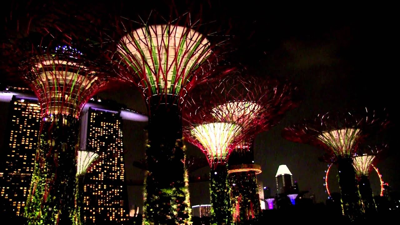 Captivating Singapore Gardens By The Bay Light Show   YouTube Gallery