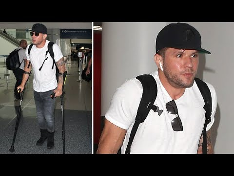 Ryan Phillippe Uses Forearm Crutches, Is Asked About Ex Elsie Hewitt At LAX