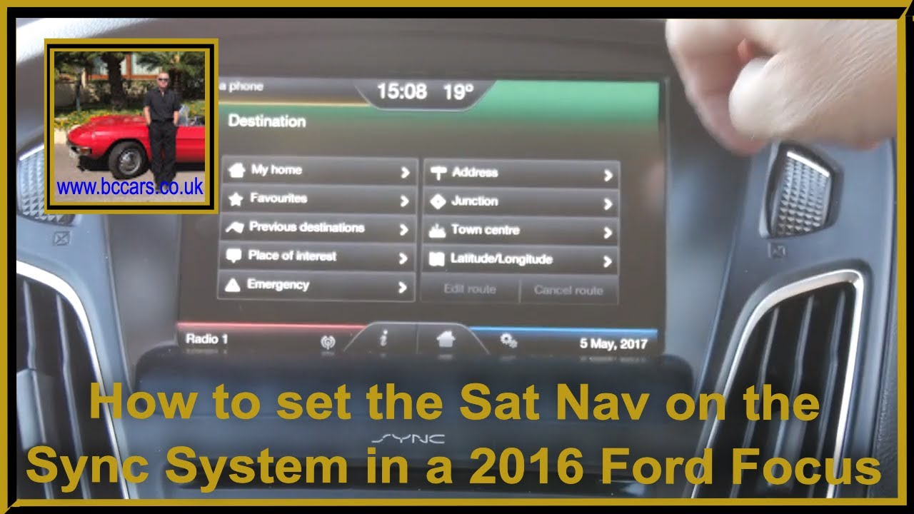 how to add navigation to ford sync
