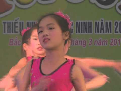 hoi dien aerobic truong tieu hoc thi tran cho so 1 huyen Yen Phong, Bac Ninh