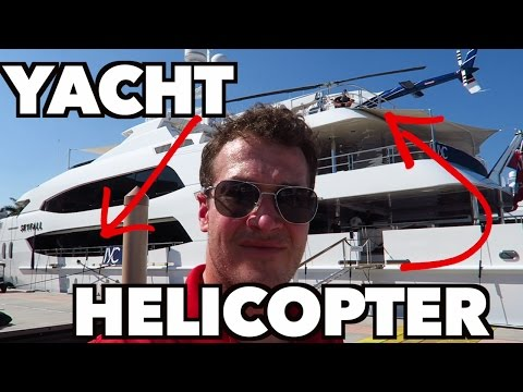 Yachts and Helicopters.  Oh, the Super Rich!