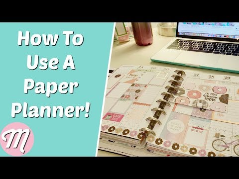 How To Use A Paper Planner For Beginners!
