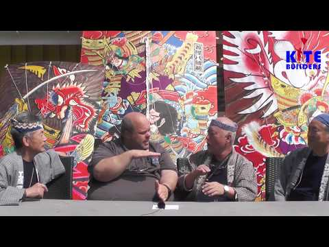 Interview with master kite builder Mikio Toki, Kato Yoshinobu and Goro Nakagawa