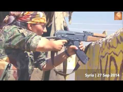 KURDISH GIRLS FIGHTERS  IN REAL BATTLE vs. ISIS in Kobani