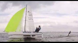 Wakeboarding/kitesurfing Nacra catamaran
