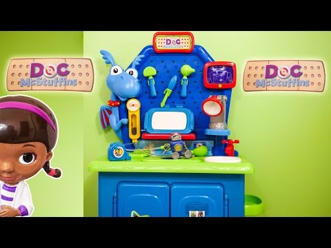 DOC MCSTUFFINS Disney Doc McStuffins Stuffy Check Up Center a Doc McStuffins Video Toys Review