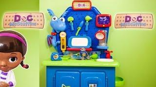 DOC MCSTUFFINS Disney Doc McStuffins Stuffy Check Up Center a Doc McStuffins Video Toy Review