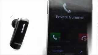 anleitung Bluetooth Headset Koppeln am Beispiel Samsung HM1000 Bluetooth Headset