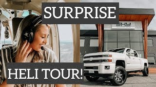 SURPRISING MY FIANCE WITH A PRIVATE HELICOPTER TOUR!!