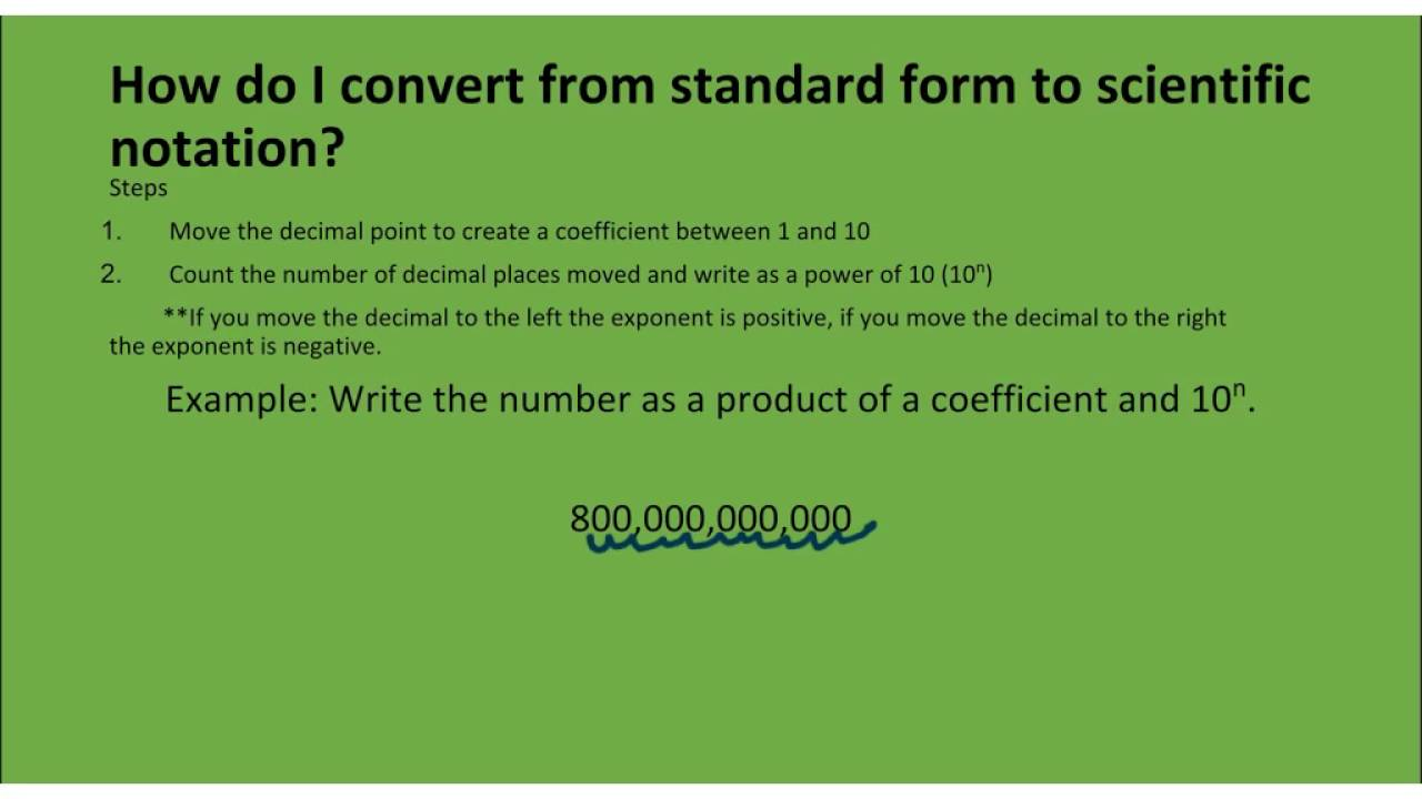 2 2 converting between scientific notation and standard form youtube 2 2 converting between scientific notation and standard form falaconquin
