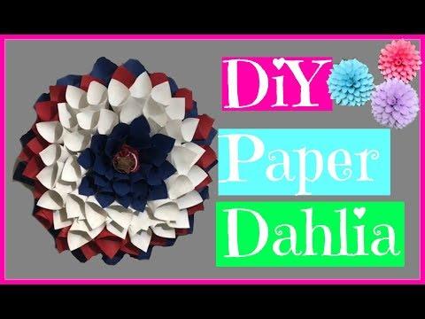 DIY Dahlia Paper Wreath (Fourth of July) Craft