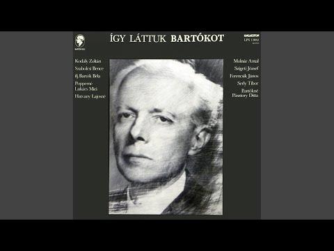 Cantata Profana - Szövegét Elmondja Bartók Béla