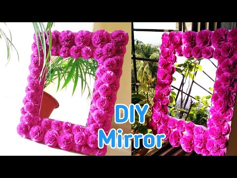DIY Mirror Decoration | Paper Craft Ideas | DIY  Mirror Wall Decor|Wall Decorating Ideas |Home Decor