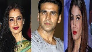 Akshay Kumar-Rekha-Raveena Tandon Love Triangle : Raveena Abused  Rekha on Set