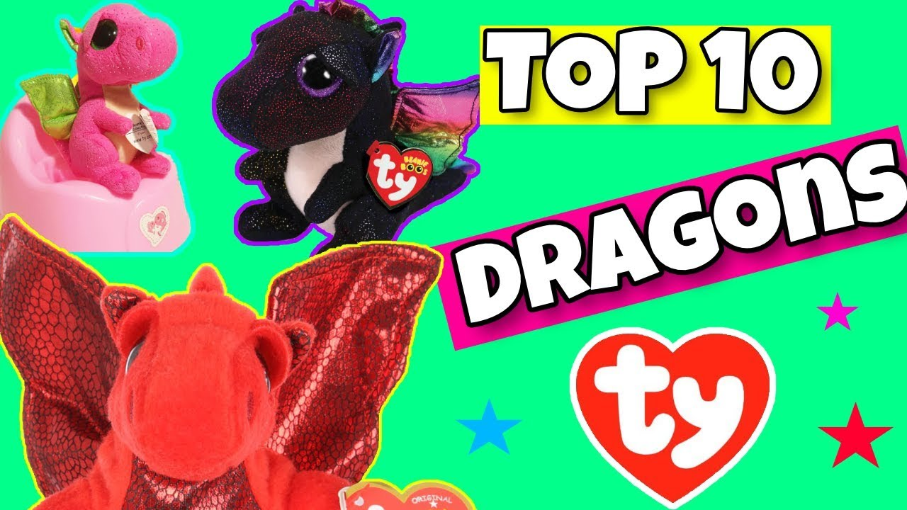 b9814c39b61 Top 10 TY dragons we own ( beanie boos and beanie babies ) - YouTube