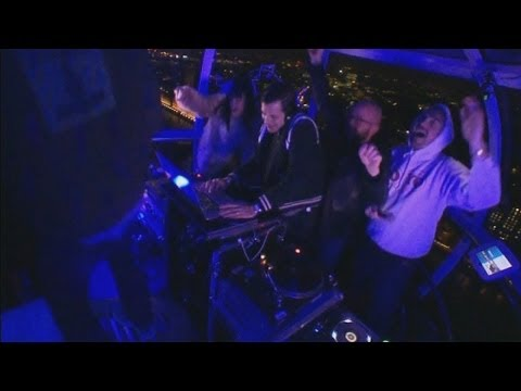 London Eye disco: Lily Allen, Mark Ronson, Katy B and Rudimental take over London Eye