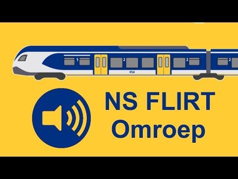 Omroep NS FLIRT sprinter tussen 's-Hertogenbosch en Deurne