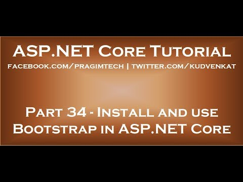 Install And Use Bootstrap In ASP NET Core