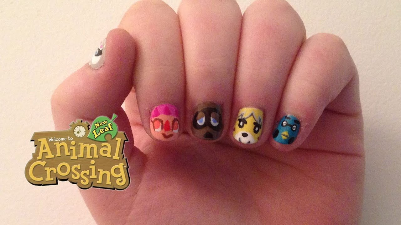 Animal Crossing Characters Nail Art Youtube
