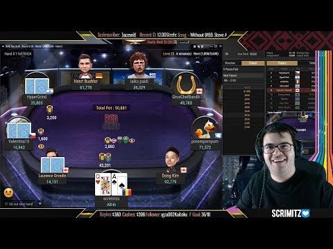 $5000 Guaranteed Poker Tournament Final Table Run! PogChamp!