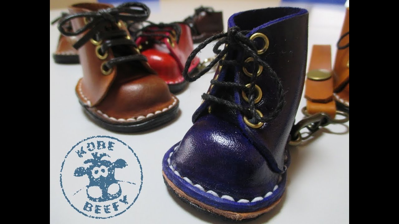 how to make mini leather boots shoes youtube. Black Bedroom Furniture Sets. Home Design Ideas