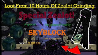 Loot From 10 Hours Of Zealot Grinding (INSANE RESULTS!) With 500% Speed And A Legendary Enderman Pet