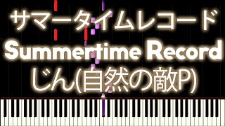 Repeat youtube video IA - Summertime record 『サマータイムレコード』 | MIDI piano.