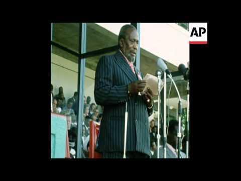 SYND 28/9/72 PRESIDENT JOMO KENYATTA ATTENDS TRADE SHOW IN NAIROBI
