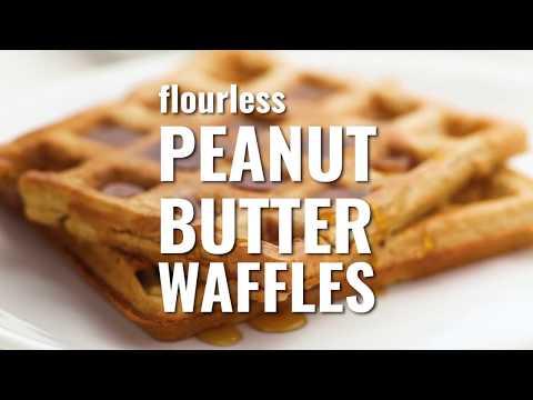 Flourless Peanut Butter Waffles Recipe