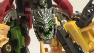 Video Review of Transformers Revenge of the Fallen; Legends Class Devastator