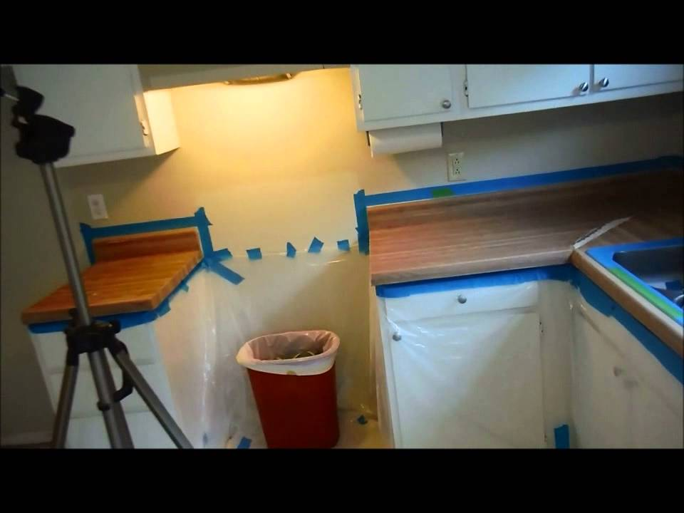 diy kitchen countertop transformation with rustoleum kit - youtube