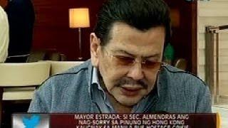 Mayor Estrada: Si Sec. Almendras ang nag-sorry kaugnay sa Manila bus hostage crisis