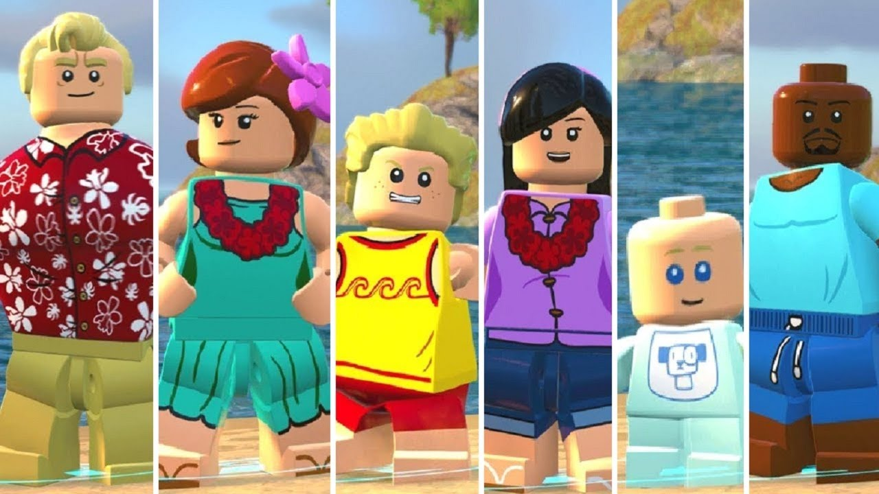 LEGO The Incredibles - All DLC Characters (Parr Family Vacation) Showcase