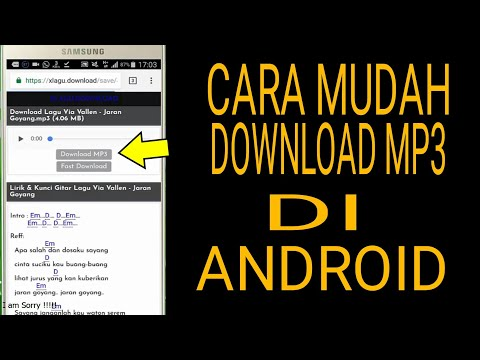 Cara Mudah Download MP3 Di Android