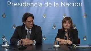 Declaraciones a la prensa de los ministros Germán Garavano y Patricia Bullrich