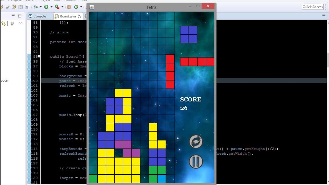 Java 2D: Full Tetris Game + Source Code