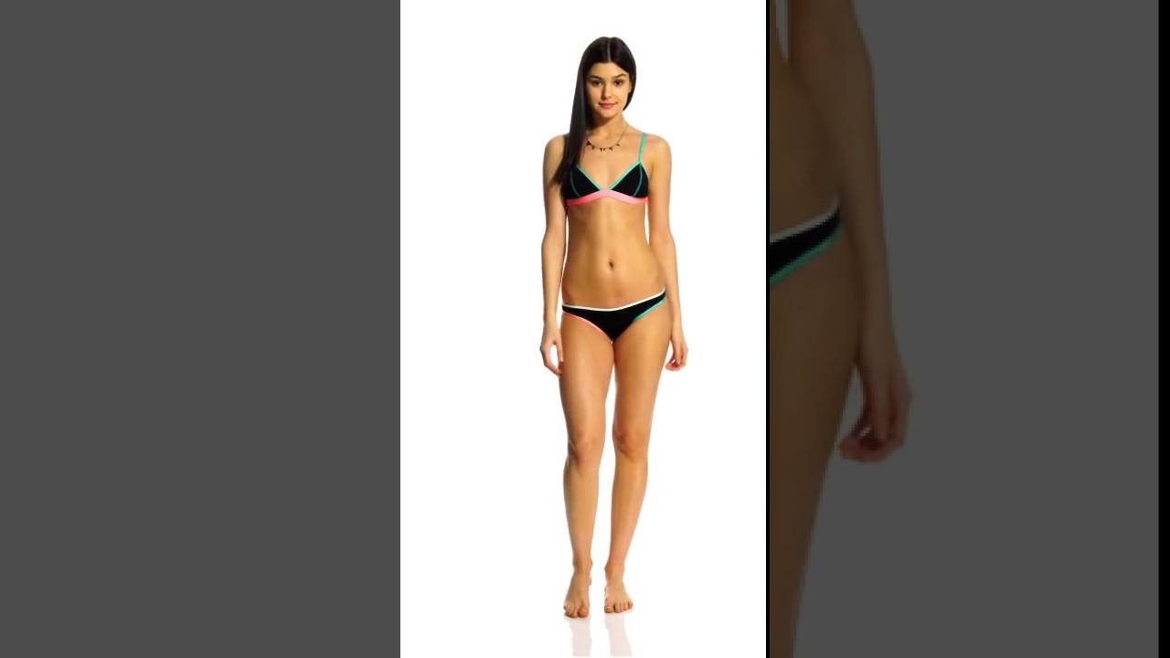 8ff4389a41a B.Swim Edgy Noir Nova Cheeky Reversible Bikini Bottom | SwimOutlet.com