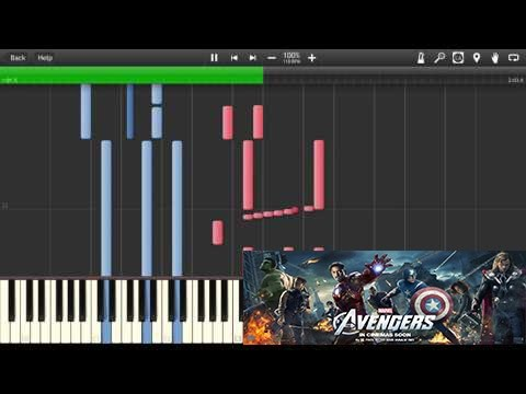 The AVENGERS Piano Main Theme - |PLAYABLE Tutorial [Synthesia]