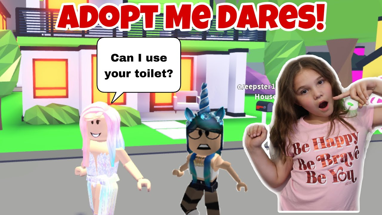 Adopt Me Dares Doing Dares In Roblox Youtube