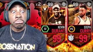 G.O.A.T. PACK OPENING & 99 FINALS MVP KEVIN DURANT! NBA Live Mobile 16 Gameplay Ep. 126