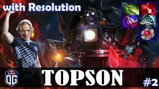 Topson - Timbersaw MID | with Resolution (NS) | vs EGM (Invoker) | Dota 2 Pro MMR Gameplay #2