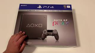 PS4 1TB Unboxing! Days of Play 2019 Limited Edition
