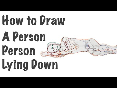 How To Draw A Person Lying Down