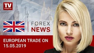 InstaForex tv news: 15.05.2019:  Bears holding upper hand on EUR (EUR, USD, GBP)