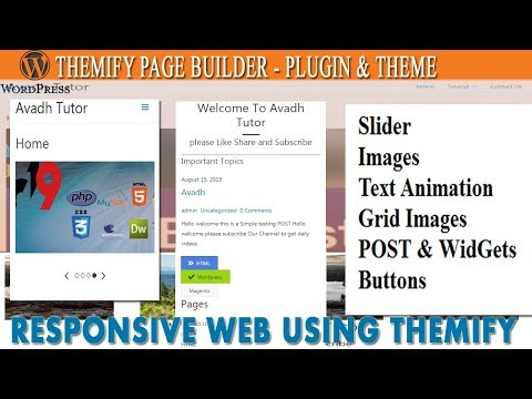 themify page builder wordpress | how to create website in wordpress | astra theme | avadh tutor thumbnail