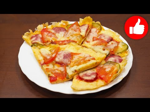 Пицца на жидком тесте в мультиварке